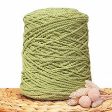 3mm Avocado- 3ply Recycled Cotton Macrame Cord