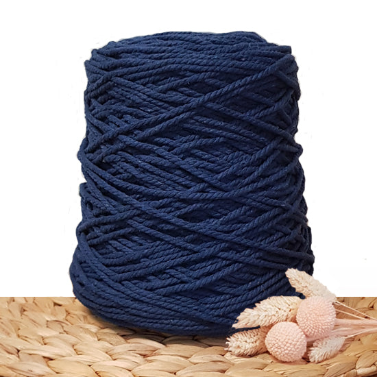 3mm Ink - Recycled Cotton 3ply Macrame Cord