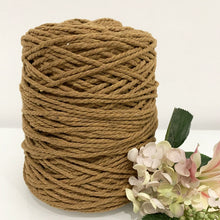 3mm Nutmeg - Recycled Cotton 3ply Macrame Cord
