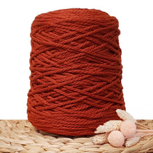 3mm Rust - 3ply Recycled Cotton Macrame Cord