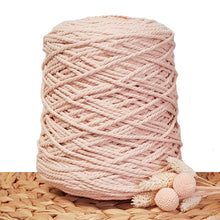 3mm Soft Peach - 3ply Recycled Cotton Macrame Cord