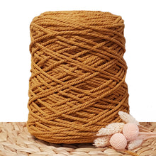 3mm Spiced Pumpkin - 3ply Recycled Cotton Macrame Cord
