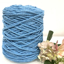 3mm Sky Blue - Recycled Cotton 3ply Macrame Cord
