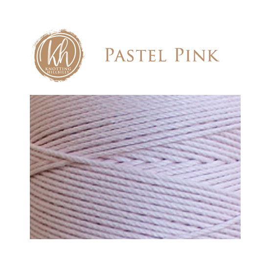 3mm 4-strand Cotton Macrame Rope - Pastel Pink