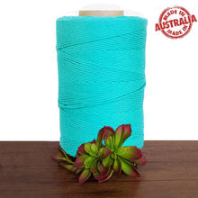 Turquoise Single Twist Macrame Cotton Cord 1kg Made in Australia