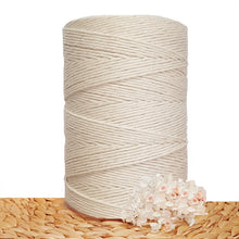 3mm Natural Single Twist Macrame Cotton Cord 1kg