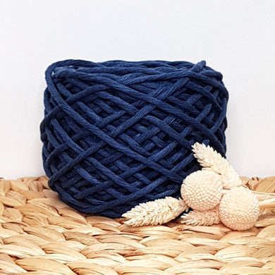 Lil' Luxe Recycled Cotton - 3mm Navy - 40 metres