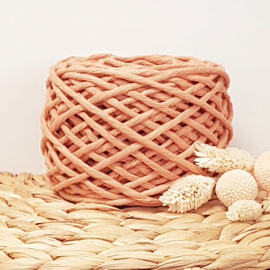Lil' Luxe Recycled Cotton - 3mm Peach - 40 metres