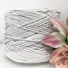 3mm White - Recycled Cotton 3ply Macrame Cord