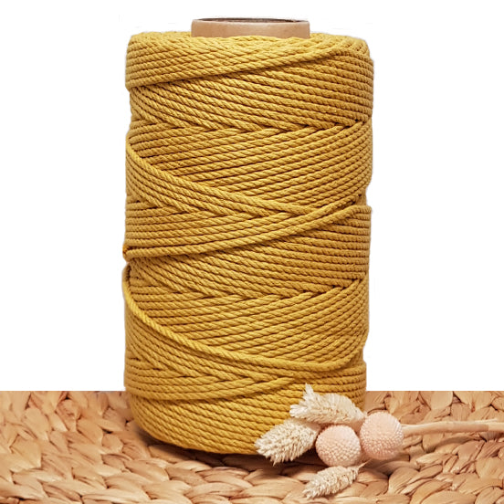 Clearance 4.5mm 4 Strand Cotton Rope - Mustard 1kg