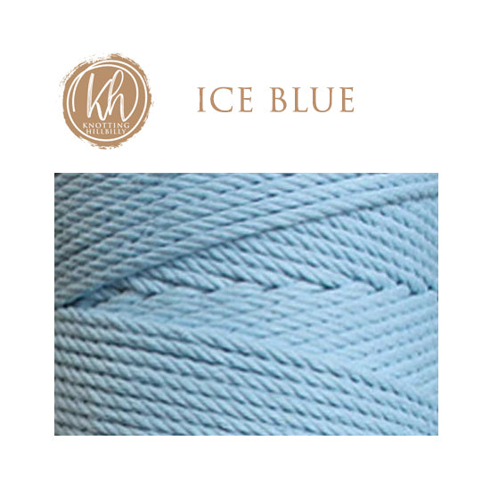 4.5mm 4-strand Cotton Macrame Rope - Ice Blue