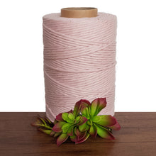 Pastel Pink Single Twist Macrame Cotton Cord 1kg - Made In Australia