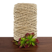 4mm Gold Metallic 3ply Twisted Rope