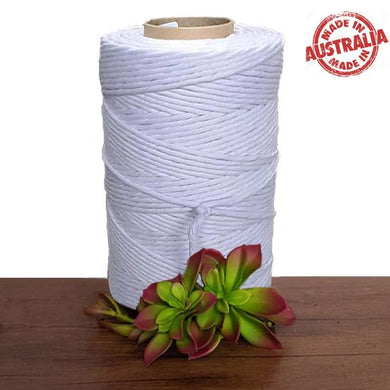 Soft Lilac - Single Twist Macrame Cotton Cord 1kg - Made in Australia