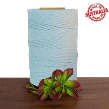 Ice Blue Single Twist Macrame Cotton Cord 1kg - Australian Made