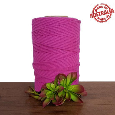 Magenta Single Twist Macrame Cotton Cord 1kg - Made In Australia