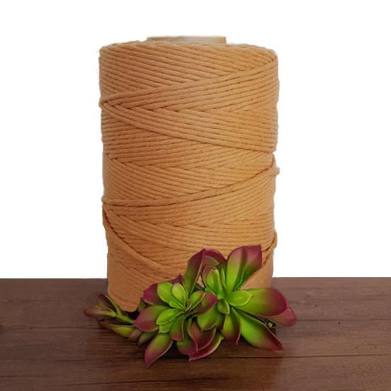 Tan Single Twist Macrame Cotton Cord 1kg - Made In Australia