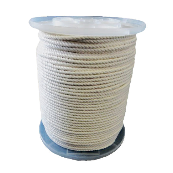 6mm 3 Ply Natural Cotton Macrame Rope