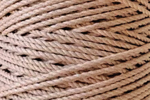 4mm 3 ply Cotton Macrame Rope - True Nude