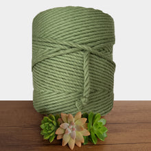 5mm De Luxe Cotton 3ply Macrame Rope - Avocado