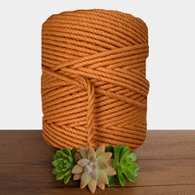 5mm De Luxe Cotton 3ply Macrame Rope -Burnt Orange