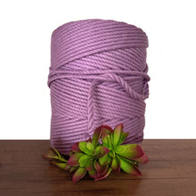 5mm De Luxe Cotton 3ply Rope - Grape
