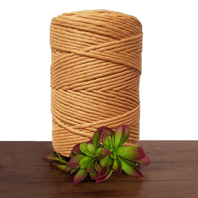 Dusty Mustard Luxe Cotton Single Twist Macrame Cord 1kg