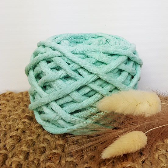 Lil' Luxe Cotton - 5mm Mint - 25 metres