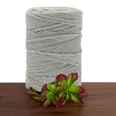 Mist Grey Macrame Cord 5mm Single Twist
