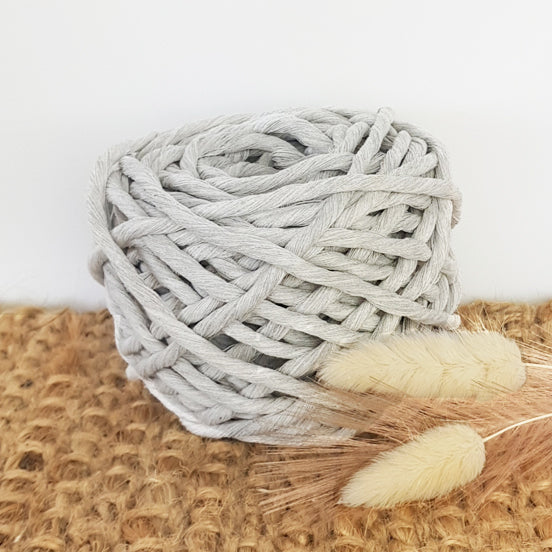 Lil' Luxe Cotton - 5mm Mist Grey - 25 metres