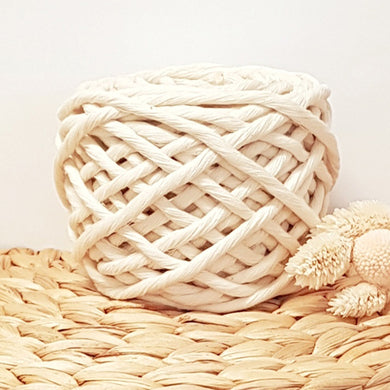 Lil' Luxe Cotton - 5mm Natural - 25 metres