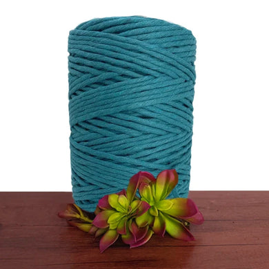 Peacock Blue Luxe Single Twist Macrame Cord