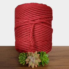 5mm Cotton 3ply Macrame Rope - Red