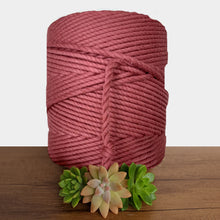 5mm De Luxe Cotton 3ply Macrame Rope - Rouge