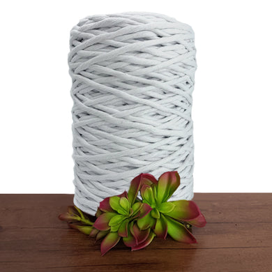 White Luxe Cotton Single Twist Macrame Cord 1kg