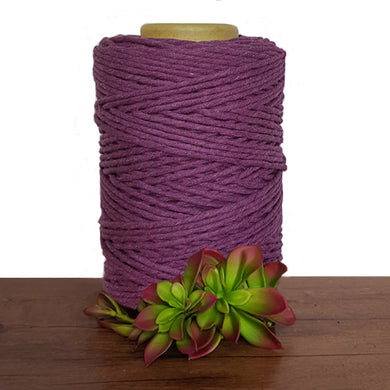 Deep Purple Luxe Cotton Single Twist Macrame Cord 1kg
