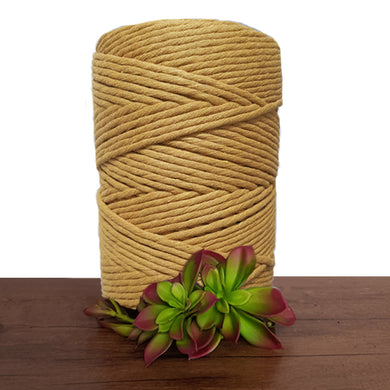Mustard Luxe Cotton Single Twist Macrame Cord 1kg