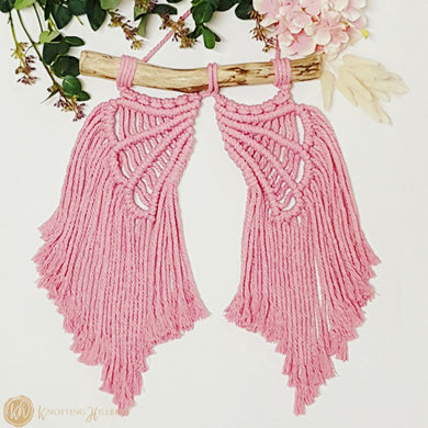 DIY Macrame Kit - Angel Wings Wall Hanging