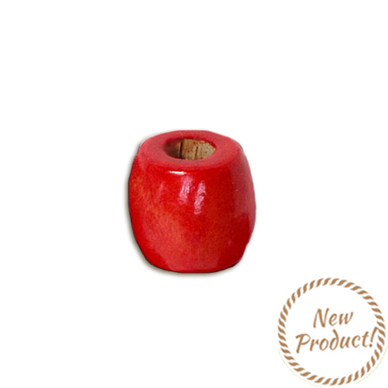 Wooden Bead - Barrel Red 18 x 17 Pack of 15