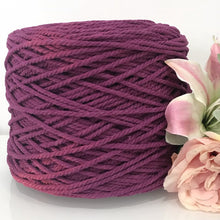5mm Berrylicious - 3ply Recycled Cotton Macrame Cord