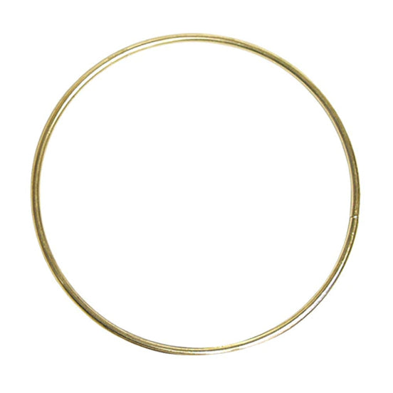 Brass Plated Metal Ring - 100mm/4inches