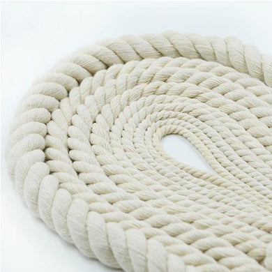 12mm 3 Ply Natural Cotton Macrame Rope