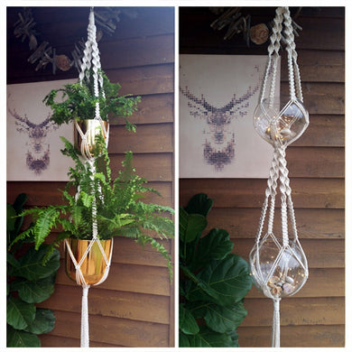 DIY Macrame Kit - Double Plant Hanger