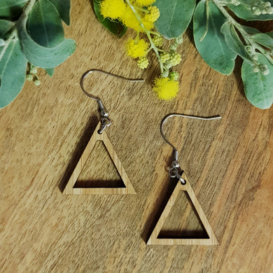 Bamboo Earring Frames - Triangles