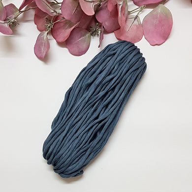 Lil' Luxe Cotton - 5mm Graphite Blue - 25 metres