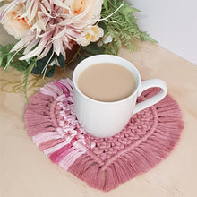 """A Mothers Heart"" Macrame Coaster"