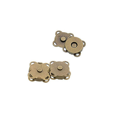 Magnetic Clasp - Sew On - 14mm Antique Bronze