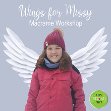 Wings for Missy Macrame Workshop - 10am Saturday 17th October