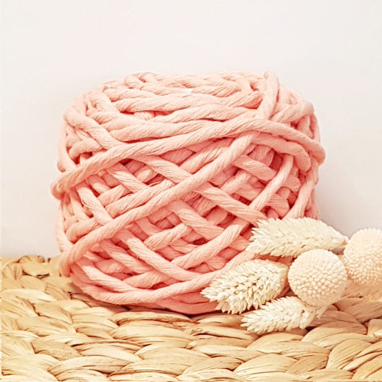 Lil' Luxe Cotton - 5mm Peach - 25 metres