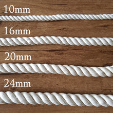 10mm 3 Ply Natural Cotton Macrame Rope